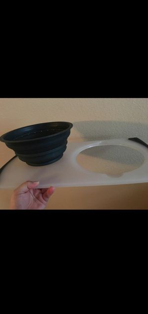 Cutting board with strainer for Sale in Fontana, CA