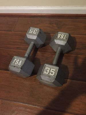 Coated Dumbbells 2x35 lbs for Sale in Temple Hills, MD