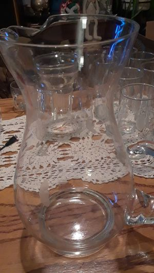"10"" crystal water pitcher for Sale in Klamath Falls, OR"