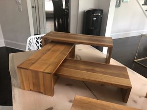 Solid wood nesting display stands 6 piece for Sale in Alpharetta, GA