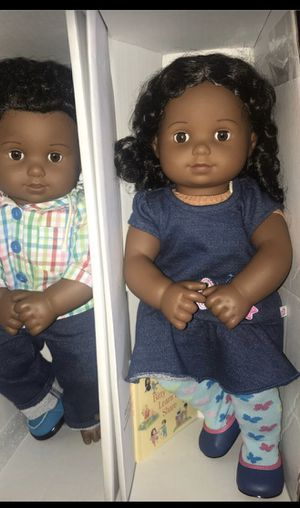 American girl doll Bitty baby twins no stains or marks. The boy is missing one shoe and box is damaged, but the dolls are fine. for Sale in Orlando, FL