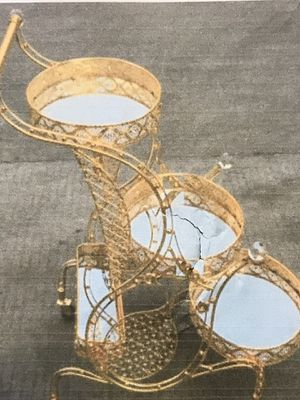 Brand new Gold color & White stone decoration bar table for Sale in Redmond, WA