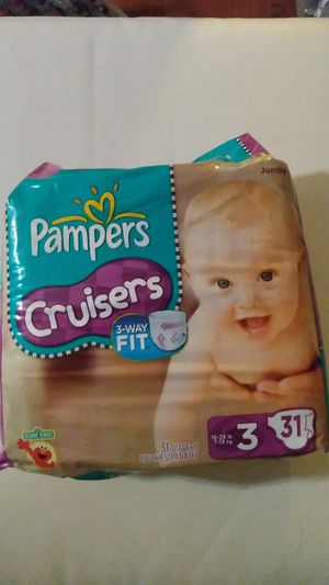 Pampers Cruisers 3-Way Fit 31 Diapers Size 3 for Sale in Homestead, FL