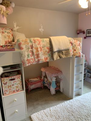 Designer LOFT BED with Desk, Lighting, and Storage! for Sale in Snohomish, WA
