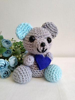 Amigurumi teddy bear. crochet little stuffed bear. Osito tejido a mano. Handwoven teddy bear for Sale in Riverside, CA