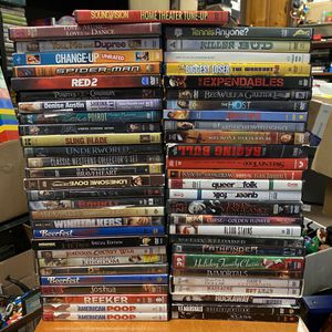 56 DVDs Untested As-is Assumed Need Repair for Sale in Agawam, MA
