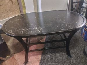 Metal framed round coffee table for Sale in Arvada, CO