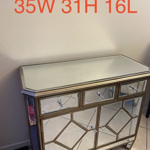 Mirror Side Table Cabinet for Sale in Los Angeles, CA