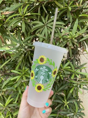 Sunflower Wreath Starbucks Cup for Sale in Fresno, CA