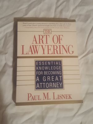 The Art of Lawyering by Paul M. Lisnek for Sale in Silver Spring, MD
