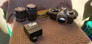 Nikon FM2 - flash + lenses + bag for Sale in Newport Beach, CA