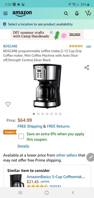 New coffee maker for Sale in Corona, CA