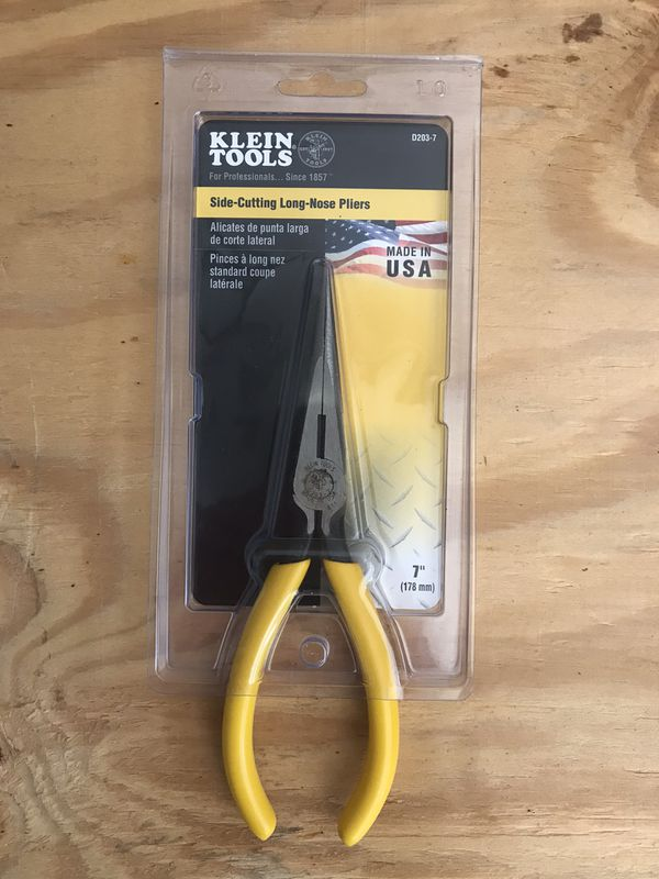 Klein Tools Side-Cutting Long-Nose Pliers