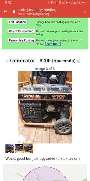 Generator for Sale in Anaconda, MT