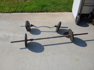 120 lbs weight and two bars for Sale in Riverside, CA