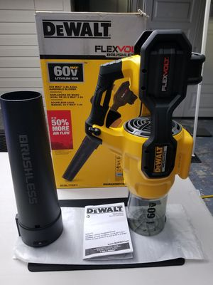 Pickup is $100 or ship New DEWALT 60V Flexvolt Blower 125 MPH 600 CFM 60-Volt MAX Lithium-Ion Cordless Axial Blower Tool Only DCBL772B DCBL772 for Sale in Pasadena, CA