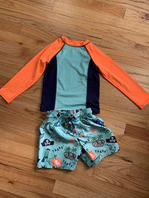 4t swim trunks and rash guard for Sale in Oak Lawn, IL