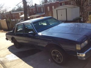 87 Chevy caprice classic project car needs transmission, and starter, and front windshield is cracked will have to be towed. Need gone ASAP. for Sale in Washington, DC