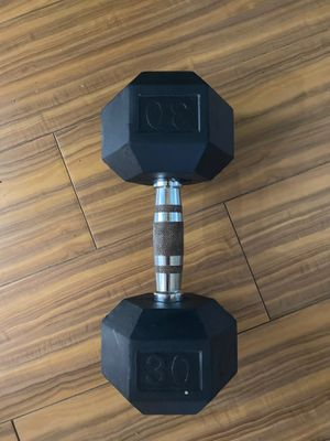 30 lb rubber dumbell for Sale in Land O' Lakes, FL