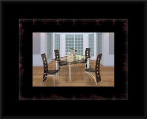 Glass dining table with 4 chairs for Sale in Manassas, VA