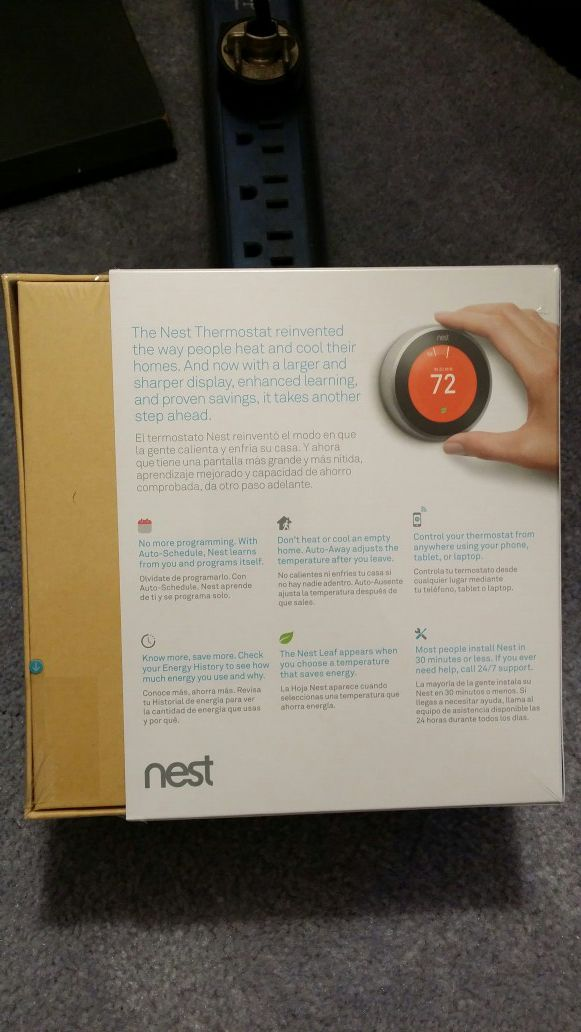 Nest learning thermostat brand new