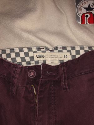 Vans Burgundy joggers 30x30 Barely worn for Sale in FL, US
