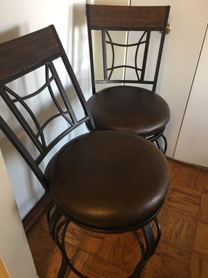 Bar height swivel chairs (2) for Sale in Hyattsville, MD