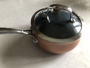 Non stick pot 3 at with steamer by Belgique for Sale in Brooklyn, NY