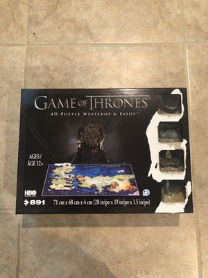 Game of Thrones 4-D Puzzle 891 pieces for Sale in Brentwood, CA