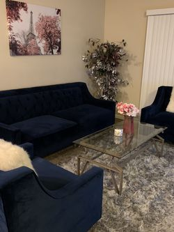 Navy Blue Sofa Set for Sale in Columbus,  OH