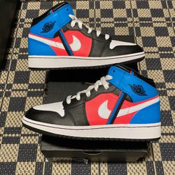 """Air Jordan 1 Mid GS """"Game Time"""" Size 5Y,5.5Y 100% Authentic 100% Brand New for Sale in Philadelphia,  PA"""