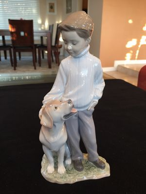 Lladro Boy with Dog Figurine for Sale in Irvine, CA
