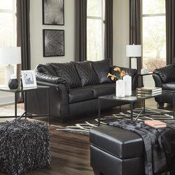 🚚Take Home SAME Day 💥New Brand ♦️Betrillo Black Living Room Set ⚡In Stock for Sale in Arlington,  VA