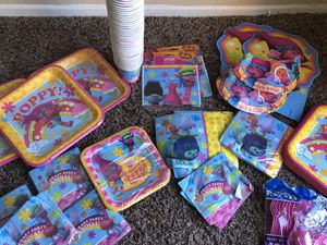 Trolls birthday supplies for Sale in Fontana, CA
