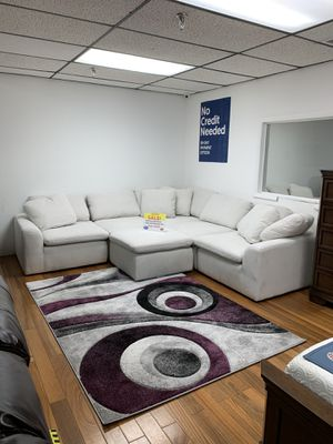 IN STOCK NOW!!! SAME DAY DELIVERY-COMFY AVENTURA SECTIONAL WITH OTTOMAN ONLY $699! NO CREDIT NEEDED FINANCING for Sale in Tampa, FL