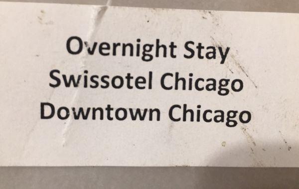 One night stay SWISSOTEL CHICAGO