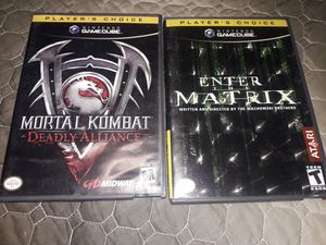 Nintendo Gamecube Games Mortal Combat and Matrix for Sale in Fresno, CA
