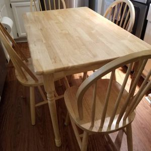 Solid Wood Dining Table and 4 Chairs for Sale in Raleigh, NC