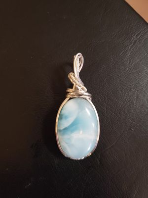 Elegant Larimar wrapped in sterling silver for Sale in Wenatchee, WA