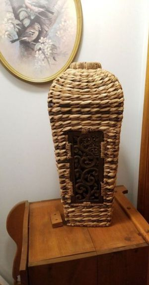 Large Rattan Woven Vase for Sale in Mechanicsburg, PA