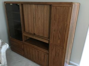 FREE Solid Oak Entertainment TV Cabinet for Sale in Silver Spring, MD