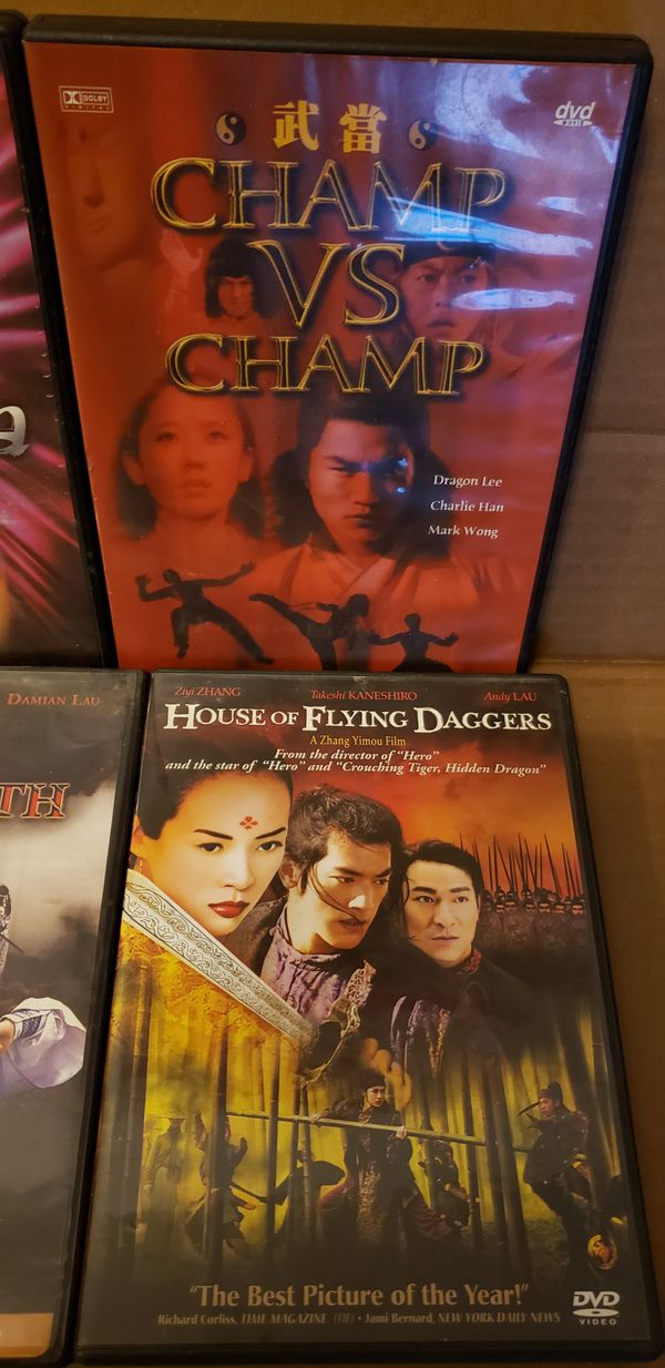 6 Martial Art DVD MOVIES