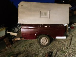 Trailer with camper shell!!! for Sale in Grants Pass, OR