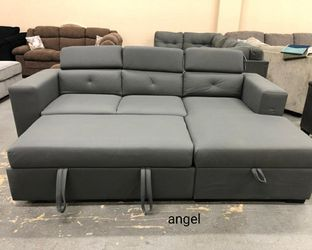 🍁İN STOCK🍁Salado Gray Sleeper Sectional with Storage for Sale in Philadelphia,  PA