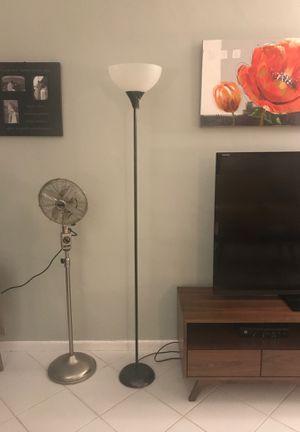2 Floor Lamps Black Metallic for Sale in Hollywood, FL