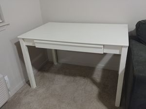 White large desk with drawer for Sale in Beaverton, OR