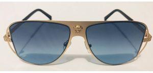 Gold Versace Medusa Sunglasses Polarized Blue Hip Hop Brand New for Sale in Lawrenceville, GA