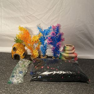 Colorful Rainbow Aquarium Decór Bundle - Great For Kids! for Sale in Rochester, NY
