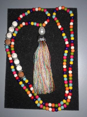 Colorful Beaded Eat Pray Love - style Necklace for Sale in Edgewater, NJ