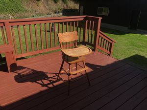 Antique Wooden baby chair for Sale in Kalama, WA